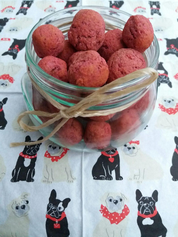 Rote Beete Kugeln für Hunde