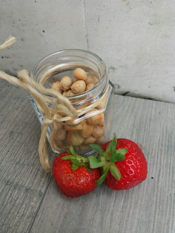 Joghurt Erdbeer Kekse für Hunde