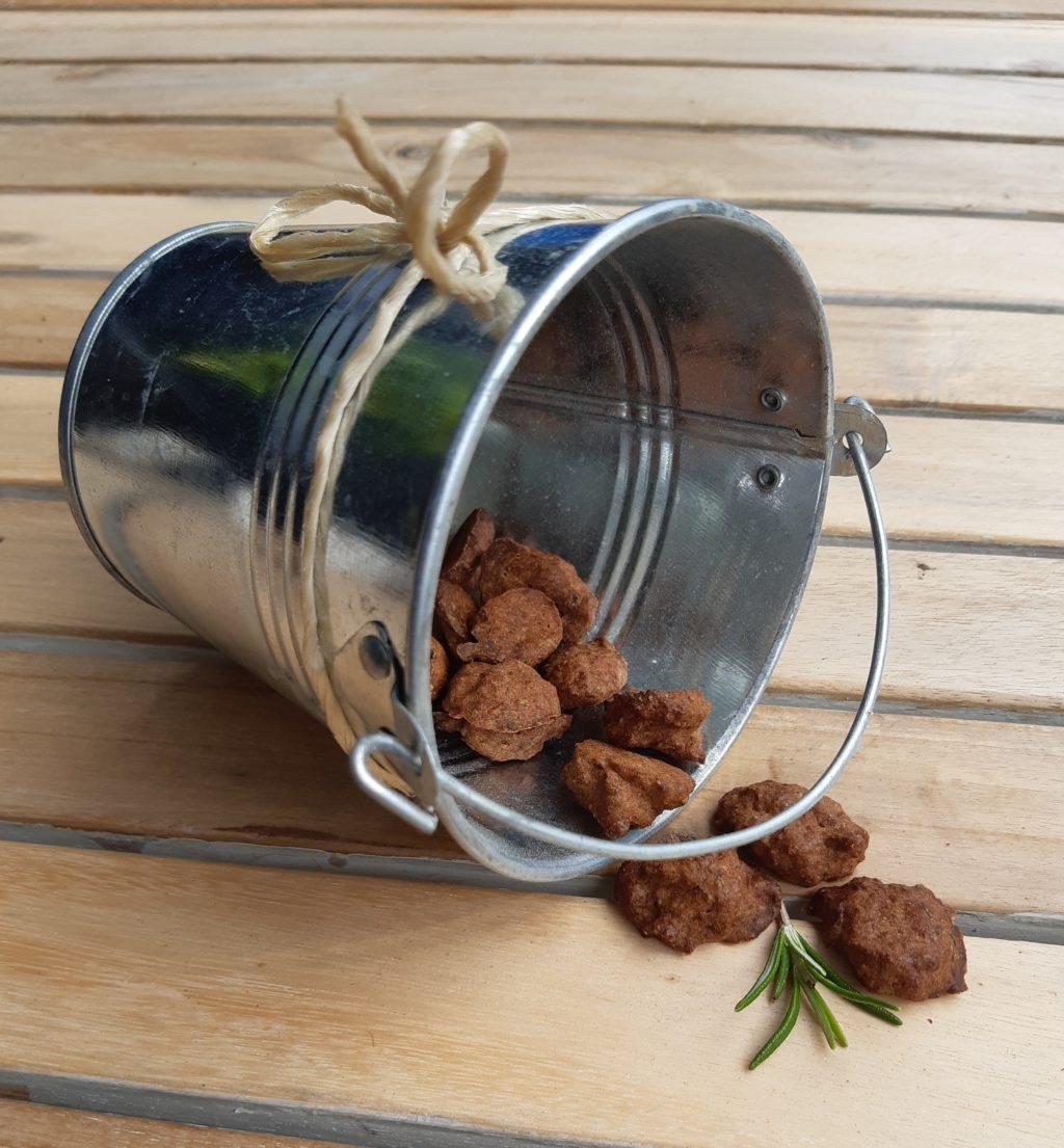 Lachs-Birnen-Rucola Kekse für Hunde