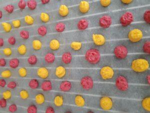 Drops-auf-Blech-300x225 Rote Beete und Kurkuma Drops für Hunde